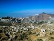 Aerial view to Hajjah city and Haraz mountain, Yemen