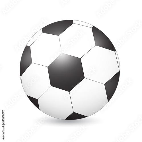 Plexiglas Sportwinkel Soccer (Football) ball on white. Vector Illustration