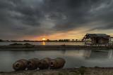 landscapes,nature, sunset, sunrise, blue, golden hour, twilight, indonesia, long exposure, great shoot, amazing landscapes, lake, sun, sky, bridge,