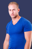 handsome young man wearing t-shirt