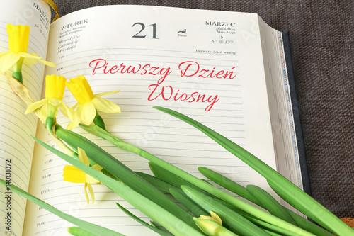 Pierwszy dzień wiosny, 21 marzec
