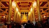 Phra Phuttha Chinnarat Buddha Image at Wat Phra Si Rattana Mahathat Temple in Phitsanulok, Thailand