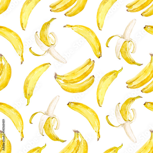 Watercolor vector banana pattern - 140168489