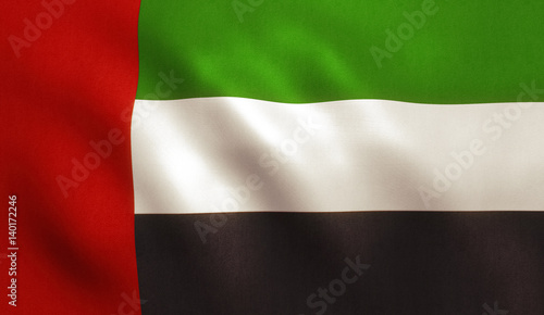 Staande foto Abu Dhabi United Arab Emirates Flag