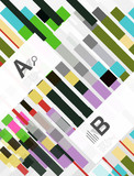 Geometrical abstract background with infographics