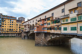 Famous Ponte Vecchio bridge across the river Arno in Florence, Italy