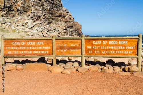 Poster Oranje eclat Cape of Good Hope, South Africa