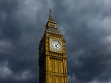 Dark clouds over the Parliament in London - 140194671