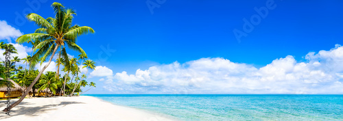 Foto Murales Strand Panorama mit türkisblauem Meer