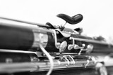 Fragment bassoon closeup in black and white  - 140196684