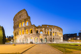 Night at The Colosseum landmark in Rome, Italy.
