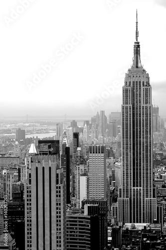 Foto op Aluminium New York Black New York skyline