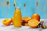 A bottle of orange juice
