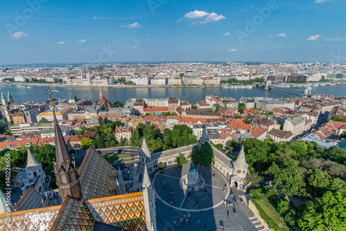 Poster View of Budapest city from above