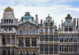 Guild Houses at the Grand Place in Brussels, Belgium, Europe