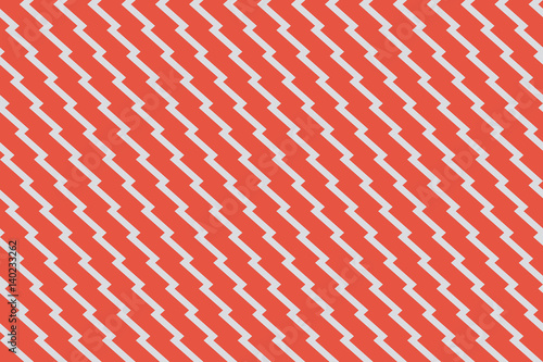 mata magnetyczna Seamless red and gray unusual zig zag pattern vector
