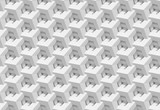 White shaded abstract geometric pattern. 3D rendering background.