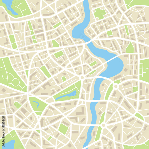 City map abstract seamless pattern - Illustration - 140254421