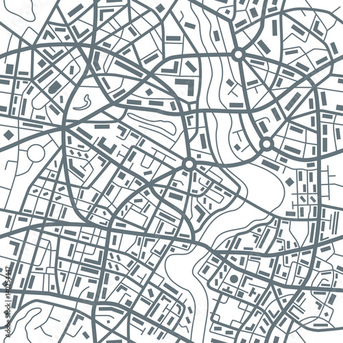 City map abstract seamless pattern - Illustration - 140254447