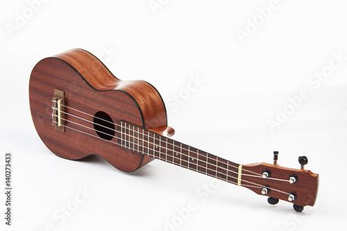 Staande foto Muziekwinkel Ukulele hawaiian guitar on white background