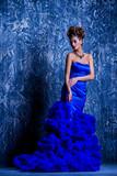 fascinating blue dress