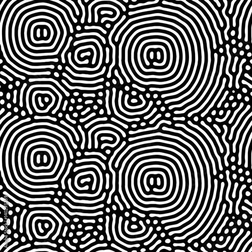 Abstract background of vector organic irregular circular lines pattern