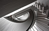 Staircase, black and white tones