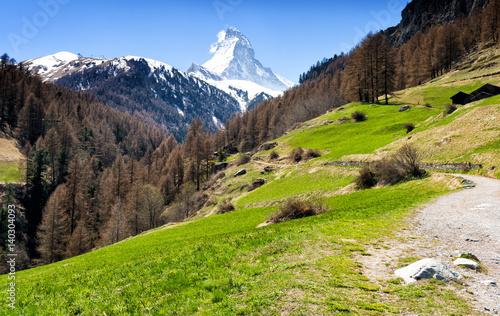 view of Matterhorn mountain in Zermatt, Switzerland Poster