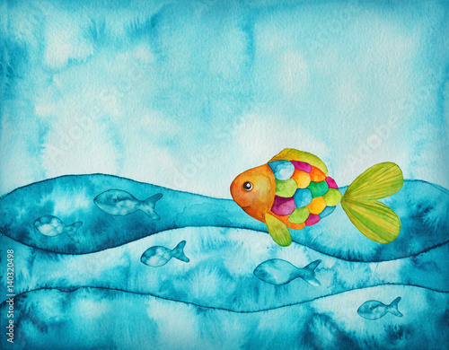 fototapeta na ścianę Colorful fishes
