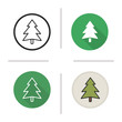 New Year and Christmas tree icon