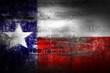 Grunge Texas USA flag on stone texture background