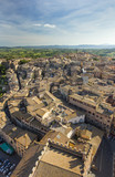 aerial view to Siena city in Tuscany in Italy