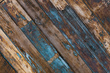 Painted wooden plank background. Old weathered wood texture. Industrial and grunge wall in loft interior. - 140352467