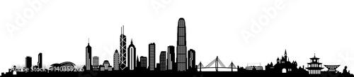 obraz lub plakat Skyline Hongkong
