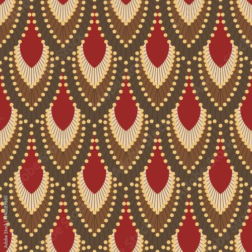 Naklejka Seamless pattern in Art Deco style 5
