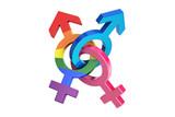 gender symbols, 3D rendering - 140396250