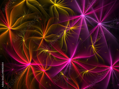 Abstract Flower Background - Fractal Art