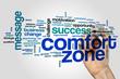 Comfort zone word cloud