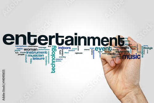 Entertainment word cloud