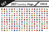 set 207 country flag circle - 140413090