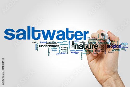 Saltwater word cloud Poster