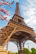 Eiffel Tower in Paris at spring, France