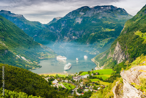 Stunning views of the  Geirangerfjord. The county of More og Romsdal. Norway