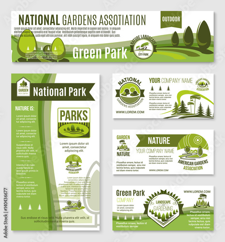 Gardening or green nature company vector templates
