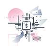 Fintech Industry Futuro Illustration.