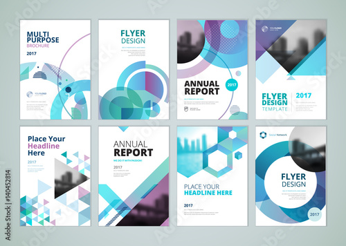brochure annual report flyer design templates in a4 size set of