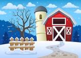 Winter farmland theme 1