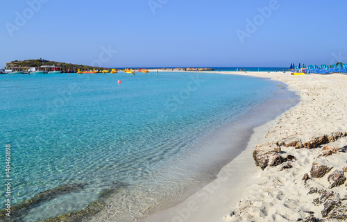 Aluminium Cyprus Beautiful lagoon beach on Cyprus island near Ayia Napa