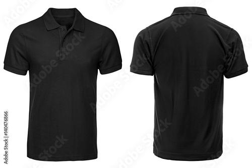Czarna koszulka polo, ubrania