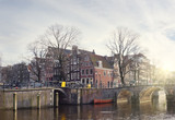 Amsterdam canals in winter
